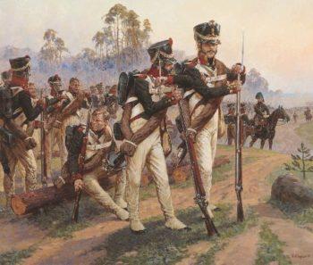 On the western border June 1812 | Alexander Averyanov | oil painting