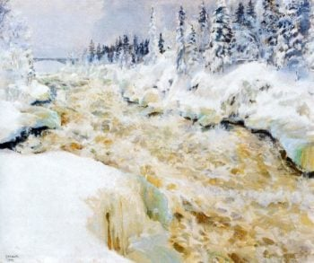 Imatra in Winter | Akseli Gallen Kallela | oil painting