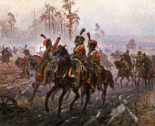 OUnder Gorodnii 13 25 October 1812   Alexander Averyanov   oil painting