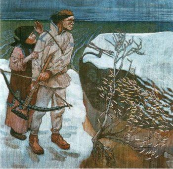 Joukahainens revenge | Akseli Gallen Kallela | oil painting