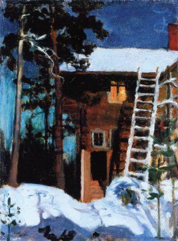 Kalela in Winter | Akseli Gallen Kallela | oil painting