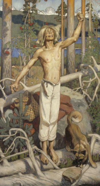Kullervo cursing | Akseli Gallen Kallela | oil painting