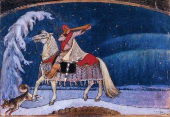 Kullervo Rides to War | Akseli Gallen Kallela | oil painting