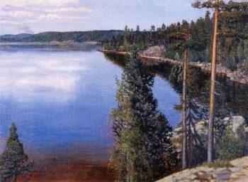 Landscape from Ruovesi | Akseli Gallen Kallela | oil painting