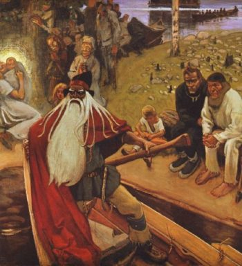 Le depart de Vainamoinen | Akseli Gallen Kallela | oil painting