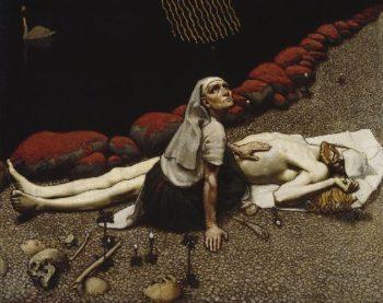 Lemminkainens Mother | Akseli Gallen Kallela | oil painting