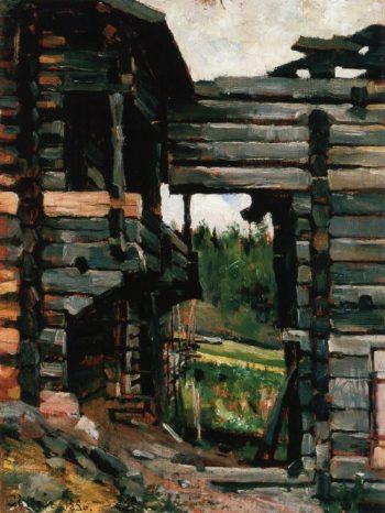 Loft Barns at Korpilahti | Akseli Gallen Kallela | oil painting