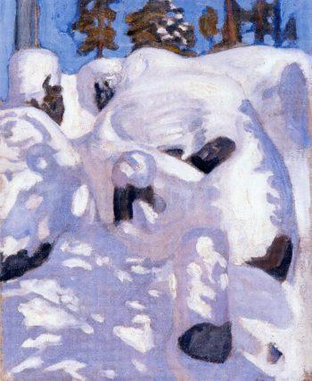 Lynx Den | Akseli Gallen Kallela | oil painting