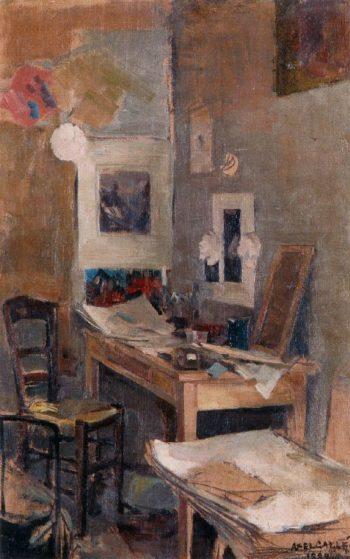 My First Room in Paris | Akseli Gallen Kallela | oil painting