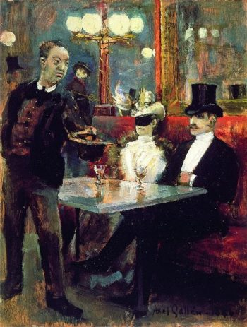 Parisian cafe   Akseli Gallen Kallela   oil painting
