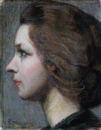 Portrait of Anna Stina Sloor | Akseli Gallen Kallela | oil painting