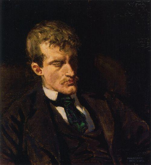 Portrait of Edvard Munch | Akseli Gallen Kallela | oil painting