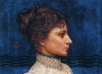 Portrait of Greta Ahlman | Akseli Gallen Kallela | oil painting