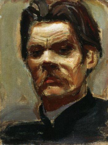 Portrait of Maxim Gorky | Akseli Gallen Kallela | oil painting
