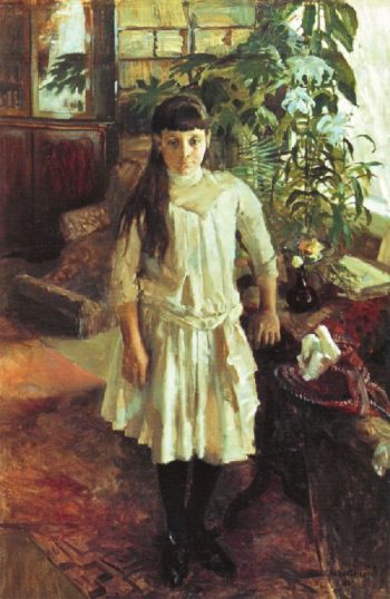 Portrait Of Sissi Serlachius | Akseli Gallen Kallela | oil painting