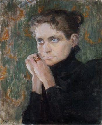 Portrait of the Actress Ida Aalberg | Akseli Gallen Kallela | oil painting