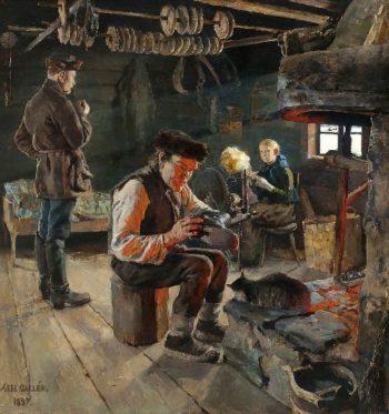 Rustic Life | Akseli Gallen Kallela | oil painting