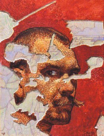 Self Portrait in a Fresco | Akseli Gallen Kallela | oil painting