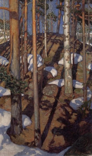 Spring at Kalela | Akseli Gallen Kallela | oil painting