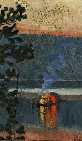 Stockflotte | Akseli Gallen Kallela | oil painting