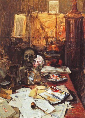Studio Still Life | Akseli Gallen Kallela | oil painting