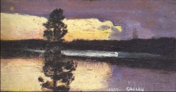 Sunset | Akseli Gallen Kallela | oil painting