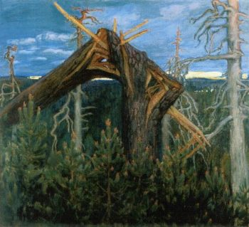 The Broken Pine | Akseli Gallen Kallela | oil painting