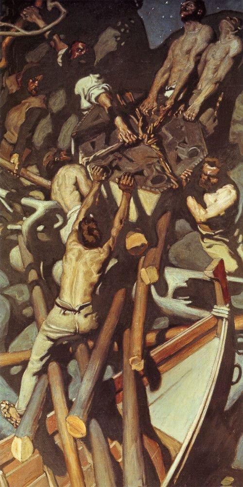 The Capture of the Sampo   Akseli Gallen Kallela   oil painting