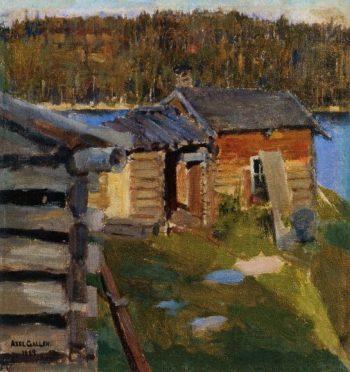 The Ekola Croft in Evening Sunlight | Akseli Gallen Kallela | oil painting
