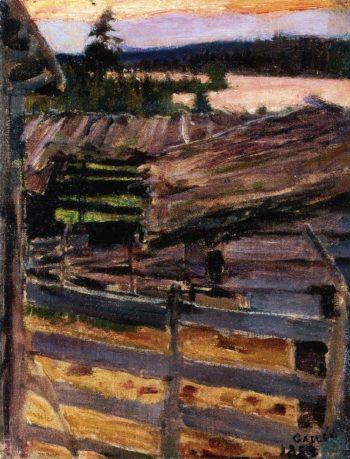 The Ekola Farmyard | Akseli Gallen Kallela | oil painting