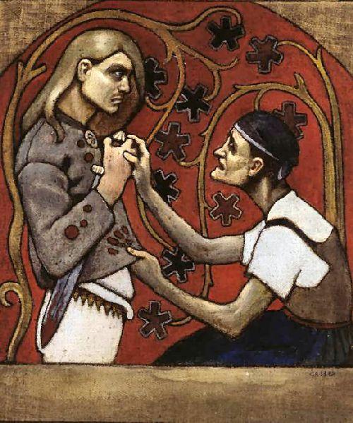 The Fratricide | Akseli Gallen Kallela | oil painting