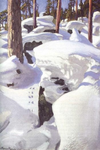 The Lair of the Lynx | Akseli Gallen Kallela | oil painting