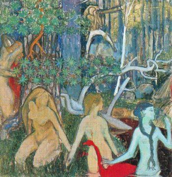 The Maids of Tapiola | Akseli Gallen Kallela | oil painting