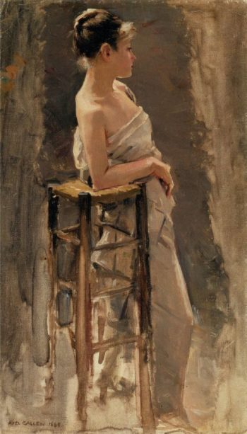 The Model | Akseli Gallen Kallela | oil painting
