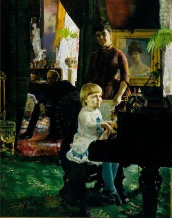 The Neovius Family | Akseli Gallen Kallela | oil painting