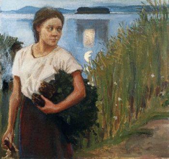 The Sauna Girl | Akseli Gallen Kallela | oil painting