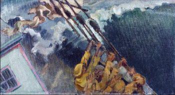 The storm | Akseli Gallen Kallela | oil painting