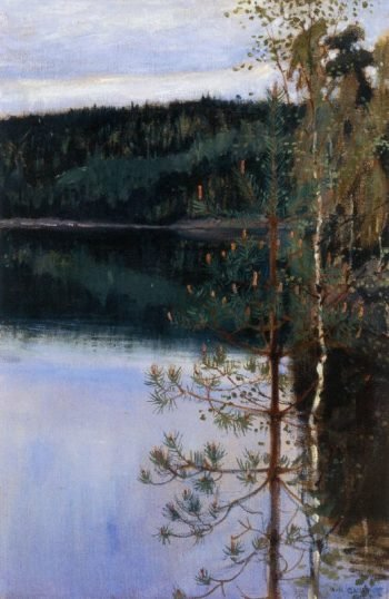 View of a Lake | Akseli Gallen Kallela | oil painting