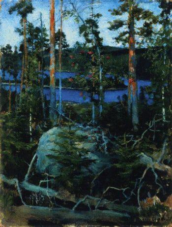 View of Lake Jamajarvi | Akseli Gallen Kallela | oil painting