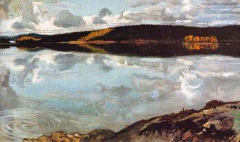 View Over Lake Ruovesi | Akseli Gallen Kallela | oil painting