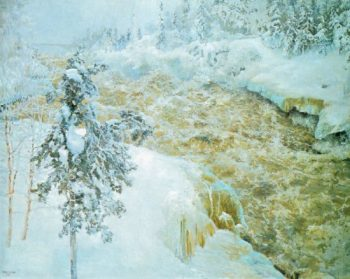 Winter Scene from Imatra | Akseli Gallen Kallela | oil painting