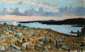 Woodland Clearing on the Shores of Lake Kallavesi | Akseli Gallen Kallela | oil painting