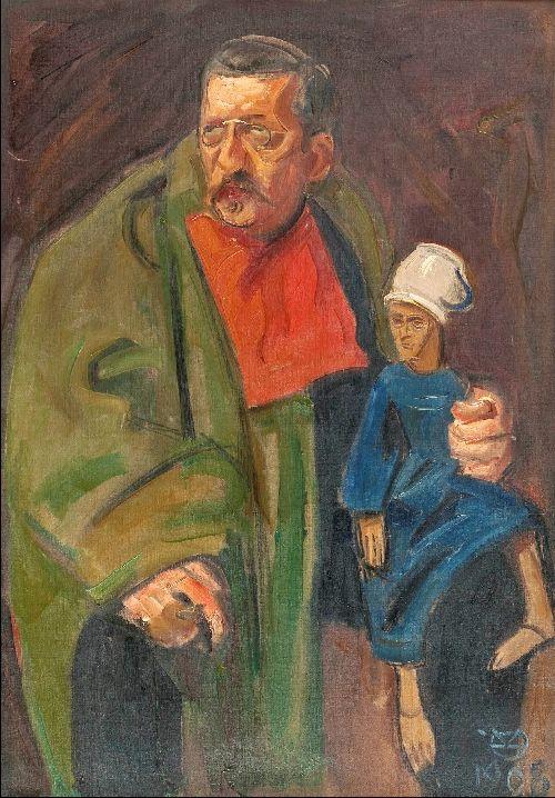 A man and a puppet   Akseli Gallen Kallela   oil painting