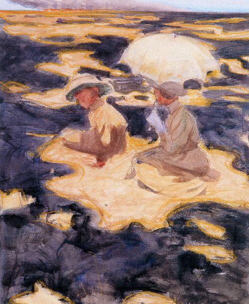 Brush Fire on the Savannah | Akseli Gallen Kallela | oil painting