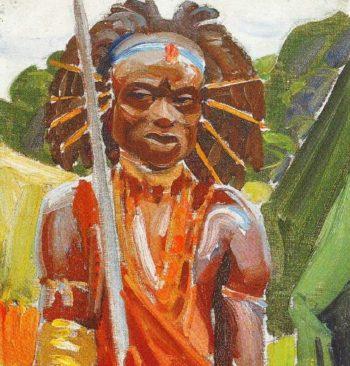 Kikuyu Warrior | Akseli Gallen Kallela | oil painting