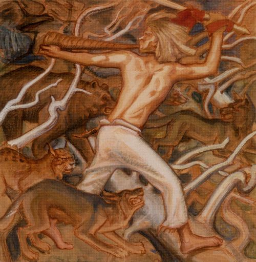 Kullervo and the Stolen Cattle | Akseli Gallen Kallela | oil painting