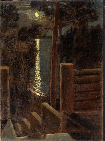 Moonlight | Akseli Gallen Kallela | oil painting