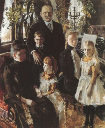 Portrait of Antti Ahlstrom and Family | Akseli Gallen Kallela | oil painting