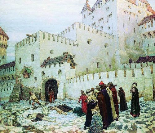 Moscow torture chamber The end of the XVI century 1912   Apollinaris M Vasnetsov   oil painting
