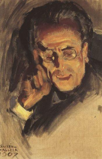 Portrait of Gustav Mahler | Akseli Gallen Kallela | oil painting